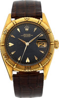 Timepieces:Wristwatch, Rolex Ref. 6309 18k Yellow Gold Thunderbird Oyster Perpetual Datejust, circa 1950's. ...