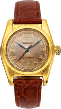 "Timepieces:Wristwatch, Rolex Ref. 2940 ""Centregraph"" Steel & Gold Bubble Back, circa1939. ..."