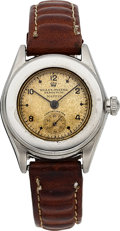 Timepieces:Wristwatch, Rolex Rare Ref. 3348 Mid-Size Steel Oyster Perpetual, circa 1940. ...