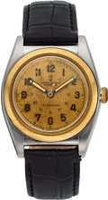 Timepieces:Wristwatch, Rolex Ref. 3133 Steel & Gold Bubble Back, circa 1944. ...