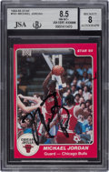 Autographs:Sports Cards, Signed 1984-85 Star Co. Michael Jordan #101 BGS NM-MT+ 8.5,Autograph 8 - Vintage Signature!...