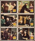 "Movie Posters:Crime, Quiet Please, Murder (20th Century Fox, 1942). Lobby Cards (6) (11""X 14""). Crime.. ... (Total: 6 Items)"