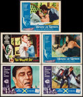 """Movie Posters:Science Fiction, X - The Man with the X-Ray Eyes & Others Lot (AmericanInternational, 1963). Autographed Lobby Cards (5) (11"""" X 14"""").Scienc... (Total: 5 Items)"""