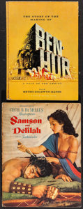 """Movie Posters:Academy Award Winners, Ben-Hur & Other Lot (MGM, 1959). Hardcover Program (Multiple Pages, 8.25"""" X 11.25"""") & Paperback Program (Multiple Pages, 9"""" ... (Total: 2 Items)"""