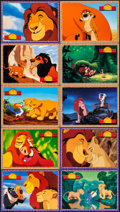 "Movie Posters:Animation, The Lion King & Other Lot (Buena Vista International, 1994).German Lobby Card Set of 16 (8.25"" X 11.75"") & Spanish LobbyCa... (Total: 26 Items)"