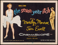 "The Seven Year Itch (20th Century Fox, 1955). Title Lobby Card (11"" X 14""). Comedy"
