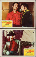 "Movie Posters:Adventure, The Sign of Zorro (Buena Vista, 1960). Lobby Cards (2) (11"" X 14"").Adventure.. ... (Total: 2 Items)"
