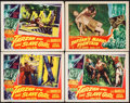 "Movie Posters:Adventure, Tarzan and the Slave Girl & Other Lot (RKO, 1950). Lobby Cards(4) (11"" X 14""). Adventure.. ... (Total: 4 Items)"