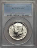 Kennedy Half Dollars, 1969-D 50C MS66 PCGS. PCGS Population: (270/18). NGC Census:(187/4). Mintage 129,881,800. ...