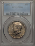 Kennedy Half Dollars, 1982-P 50C MS66 PCGS. PCGS Population: (250/10). NGC Census: (84/4). Mintage 10,819,000. ...