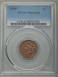 Proof Indian Cents: , 1890 1C PR62 Red and Brown PCGS. PCGS Population: (18/265). NGCCensus: (2/155). Mintage 2,740. ...