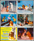 "Movie Posters:Animation, Lady and the Tramp (Buena Vista, 1955). Color Photo Set of 12 (8"" X10""). Animation.. ... (Total: 12 Items)"