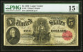 Large Size:Legal Tender Notes, Fr. 80 $5 1880 Legal Tender PMG Choice Fine 15 Net.. ...