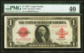 Large Size:Legal Tender Notes, Fr. 40 $1 1923 Legal Tender PMG Extremely Fine 40.. ...