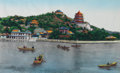 Political:Presidential Relics, Gerald & Betty Ford: A Nicely Framed Woven Tapestry of Kunming Lake and the Imperial Summer Palace in Beijing....