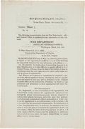 Military & Patriotic:Civil War, [U.S. Colored Troops]. General Order No. 58 Regarding the Appointment of Officers to The Colored Troops....