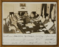 Autographs:U.S. Presidents, President Harry Truman and his Cabinet Signed Photograph....