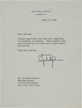 Autographs:U.S. Presidents, Lyndon B. Johnson Typed Letter Signed....
