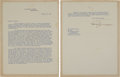 Autographs:U.S. Presidents, Harry Truman Typed Letter Signed....
