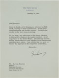Autographs:U.S. Presidents, John F. Kennedy Typed Letter Signed...