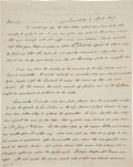 Autographs:U.S. Presidents, James Buchanan Autograph Letter Signed. One and a ...