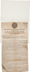 Miscellaneous:Broadside, Oliver Cromwell Commonwealth Proclamation Broadside....