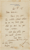 Autographs:U.S. Presidents, William McKinley Manuscript Letter Signed...