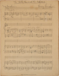 George Gershwin Autograph Musical Manuscript Signed