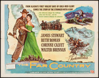 "The Far Country (Universal International, 1955). Half Sheet (22"" X 28"") Style B. Western"