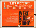 "Movie Posters:Academy Award Winners, West Side Story (United Artists, 1961). Half Sheet (22"" X 28"")Academy Awards Style, Saul Bass & Joseph Caroff Artwork.Musi..."