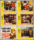 """Movie Posters:Adventure, Call of the Wild (20th Century Fox, R-1953). Title Lobby Card &Lobby Cards (5) (11"""" X 14""""). Adventure.. ... (Total: 6 Items)"""