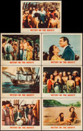 "Movie Posters:Academy Award Winners, Mutiny on the Bounty (MGM, R-1957). Lobby Cards (7) (11"" X 14"").Academy Award Winners.. ... (Total: 7 Items)"