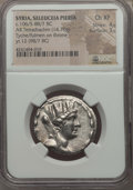 Ancients:Greek, Ancients: SYRIA. Seleuceia Pieria. Ca. 106/5-88/7 BC. ARtetradrachm (14.70 gm). NGC Choice XF 4/5 - 3/5....