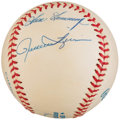 "Autographs:Baseballs, Baseball Hall of Famers ""Relief Pitchers"" Multi-Signed Baseball...."