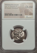 Ancients:Greek, Ancients: THESSALY. Thessalian League. Ca. mid-late 2nd century BC.AR stater or double-victoriatus. NGC Choice AU....