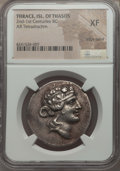 Ancients:Greek, Ancients: THRACIAN ISLANDS. Thasos. Ca. 148-90/80 BC. ARtetradrachm. NGC XF, edge bend....