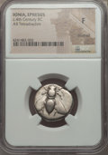 Ancients:Greek, Ancients: IONIA. Ephesus. Ca. 390-325 BC. AR tetradrachm. NGC Fine,brushed....
