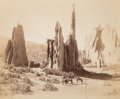 Photographs:Albumen, William Henry Jackson (American, 1843-1942). Cathedral Spires,Garden of the Gods, circa 1873. Mammoth plate albumen. 17...