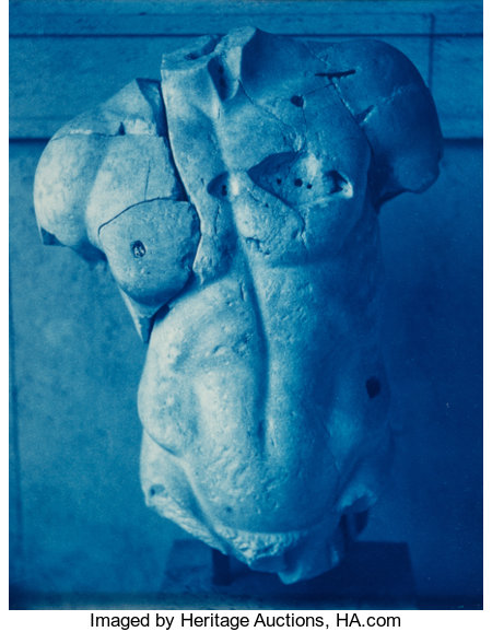 John Dugdale (American, b. 1960) Restored Torso (Roma), 1997 Cyanotype 10 x 8 inches (25.4 x 20.3 cm) Signed in ink ...