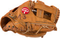 Baseball Collectibles:Others, Circa 1987 Dennis Eckersley Game Used Fielder's Glove. ...