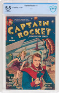 Golden Age (1938-1955):Science Fiction, Captain Rocket #1 (P.L. Publishing Co., 1951) CBCS FN- 5.5 Whitepages....