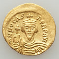 Ancients:Byzantine, Ancients: Phocas (AD 602-610). AV solidus (4.30 gm). VF, graffito,clipped....