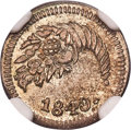 Colombia, Colombia: Republic 1/4 Real 1840-BOGOTA MS65 NGC,...