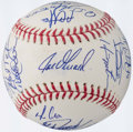 Autographs:Baseballs, 2009 New York Yankees Team Signed Baseball (23 Signatures)....