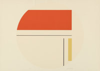 Ilya Bolotowsky (American, 1907-1981) Untitled (two works) Screenprint in colors, each