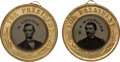 Political:Ferrotypes / Photo Badges (pre-1896), Lincoln & Johnson and McClellan & Pendleton: A LuminousMatched Pair of 1864-Dated Campaign Ferrotypes. ...