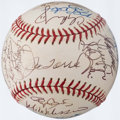 Autographs:Baseballs, 2001 New York Yankees Team Signed Baseball (31 Signatures)....