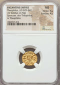 Ancients:Byzantine, Ancients: Theophilus (AD 829-842). AV solidus (3.70 gm). NGC MS 4/5- 4/5....
