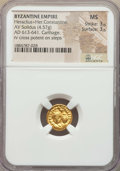 Ancients:Byzantine, Ancients: Heraclius (AD 610-641) & Heraclius Constantine (AD613-641). AV solidus (4.57 gm). NGC MS 3/5 - 3/5. ...