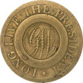 "Political:Tokens & Medals, George Washington: The Rare ""Dotted Script"" 1789 Inaugural ClothingButton. ..."